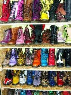 The only thing better than combat boots .. colored combat boots(: