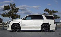 2015 escalade with custom wheels   2015 Cadillac Escalade with custom Lexani inch CSS-15 wheels