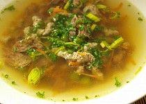 Hovězí polévka Soup, Beef, Chicken, Meat, Soups, Steak, Cubs