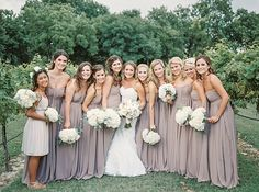 dusty lavender bridesmaid dresses | Tracy Enoch