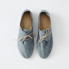 Hobes – Womens Boat Cool Grey. Super fine, soft and incredibly light weight with delicate stitching and lace details. Handmade with traditional Italian techniques and finished with impeccable attention to detail. 100% fine suede upper, thin rubber sole • Available at thebigdesignmarket.com