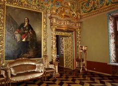 Moscow. Russia. Kharitonievsky Lane. Yusupov Volkov Palace. The Throne Room.