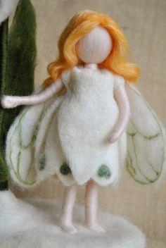 Flower Fairy Waldorf inspired needle felted doll: The door MagicWool