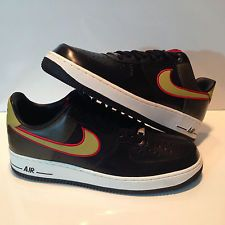 82b89bb0438e New Rare Custom Men s Nike Air Force 1 One Low Supreme Black Olive Shoes SZ  12 Bit.ly 1yrn52v