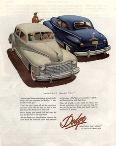 1947 Dodge Club Coupe and Town Sedan