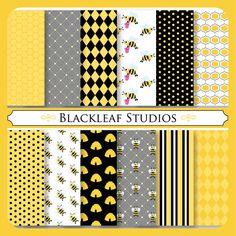 Digital bumble bee patterns