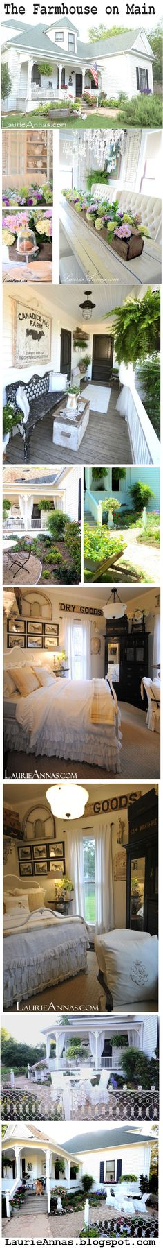 """Our little Texas """"Farmhouse on Main"""" (TM) in Canton, Texas.  We developed a line of Farmhouse on Main products that you can shop at LaurieAnna's Vintage Home or online at laurieannas.com"""