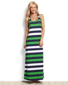 Mare Rugby Stripe Tank Maxi Dress