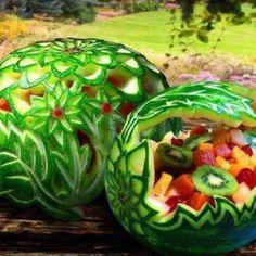 Fun way to serve fruit salad