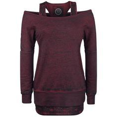 R.E.D. by EMP  Sweatshirt  »2 in1 Burnout Sweatshirt«