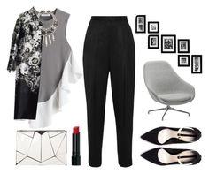 """The office...spectrum -Zedd"" by mariemm23 ❤ liked on Polyvore featuring J.W. Anderson, Suzanna Dai, Prada, 10 Bells, Zara, The Row, HAY, Bobbi Brown Cosmetics, polyvoreblogger and fashionfind"