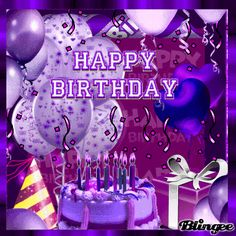 Enjoy the best collection of beautiful Birthday quotes, wishes and messages. Share these Happy Birthday images with loved ones and celebrate their birthday in a unique way. Purple Happy Birthday, Happy Birthday Cousin, Happy Birthday Celebration, Happy Birthday Pictures, Happy Birthday Messages, Happy Birthday Greetings, Animated Happy Birthday Wishes, Mother Birthday, Album Vintage