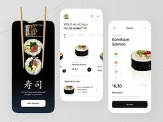 Sushi Apps Exploration 🍣 by Azie Melasari for Odama on Dribbble Motion App, Fresh Sushi, Directory Design, Sushi Restaurants, User Experience Design, Mobile App Design, User Interface Design, Job Opening, Branding Design