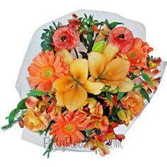 FiftyFlowers.com - Peach Classic Flower Centerpieces