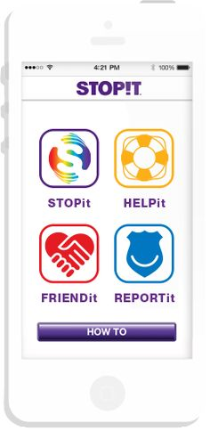 STOPit Cyberbullying App, an app that lets students anonymously report bullying.