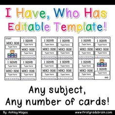 Creating I have, Who has cards has never been easier! With this Microsoft Word…
