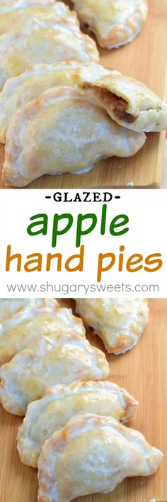 These Glazed Apple Hand Pies are the perfect fall treat. And in only 30 minutes These Glazed Apple Hand Pies are the perfect fall treat. And in only 30 minutes youll have one of these delicious baked treats in your hands! Apple Recipes, Fall Recipes, Sweet Recipes, Apple Desserts, Recipes For Thanksgiving, Mini Pie Recipes, Apple Hand Pies, Fruit Hand Pies, Cherry Hand Pies