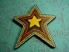 SALE Aboriginal Style Dot Painted Star