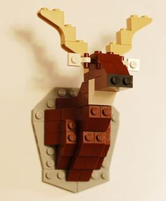 LEGO deer, wall decorating.