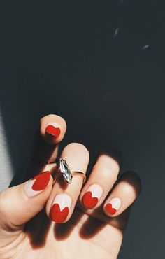 heart-tipped nails.