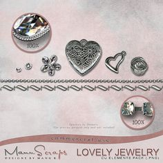 CU Lovely Jewelry | CU/Commercial Use #digital #scrapbook design tools at CUDigitals.com #digitalscrapbooking