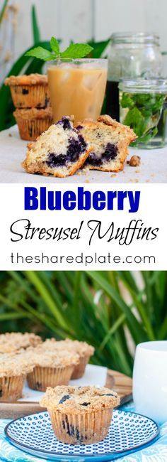 The texture of these blueberry muffins is endlessly moist (thank you yogurt), bursting with juicy fruit, and reminds me of cake, thanks to it's delicate, airy crumb. The streusel is the sweet, crunchy crowning glory of these blueberry muffins!