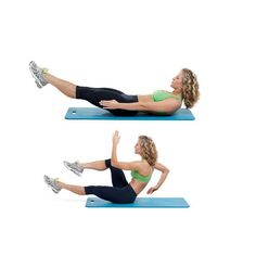 The Sprinter: This move is designed to tap into the deep abdominal muscles—the transverse abdominis—that pull in your waistline like a natural corset.