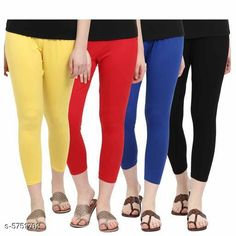 Leggings & Tights  Sana Fashionable Women's Leggings Combo Fabric: Cotton Pattern: Solid Multipack: 4 Sizes:  34 (Waist Size: 34 in Length Size: 43 in)  36 (Waist Size: 36 in Length Size: 43 in)  26 (Waist Size: 26 in Length Size: 43 in)  38 (Waist Size: 38 in Length Size: 43 in)  28 (Waist Size: 28 in Length Size: 43 in)  30 (Waist Size: 30 in Length Size: 43 in)  32 (Waist Size: 32 in Length Size: 43 in)Free Size Country of Origin: India Sizes Available: Free Size, 26, 28, 30, 32, 34, 36, 38, 40   Catalog Rating: ★4 (374)  Catalog Name: Elegant Trendy Women Leggings Combo of 4 CatalogID_864895 C79-SC1035 Code: 965-5751701-7941