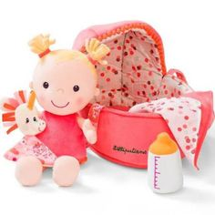 Find our great product: Lilliputiens - doll - bébé louise, dedicated to the wellbeing, the awakening and the happiness of your baby! Mon Premier Doudou, the online store for baby. Baby Chloe, Birth Gift, Top Toys, Baby Store, Soft Dolls, Novelty Gifts, Baby Bottles, Baby Cribs, Plush Dolls
