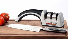 Buy Chef'sChoice 4643 ProntoPro Diamond Hone Manual Knife Sharpener Extremely Fast Sharpening Euro-American and Asian Style Knives Precise Bevel Angle Control Diamond Abrasive Made in USA, Silver Chefs Choice Knife Sharpener, Best Knife Sharpener, Electric Knife Sharpener, Kitchen Knife Sharpening, Sharpening Stone, Professional Knife Sharpener, Chef's Choice, Specialty Knives, Chef Knife
