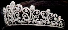 The Japanese Crown Princess Scroll Tiara The Japanese tiara best known today as the diadem worn by Masako Owada during the events surrou. Royal Crowns, Royal Tiaras, Crown Royal, Tiaras And Crowns, Or Antique, Antique Jewelry, Diamond Tiara, Diamond Ice, Jeweled Shoes