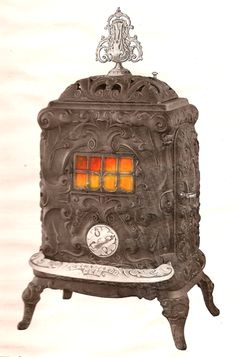 Antique Old Cast Iron King Stove Amp Range Sheffield Ala No