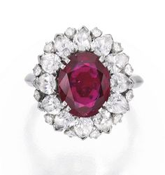 Platinum, Ruby and Diamond Ring, Harry Winston - Sotheby's