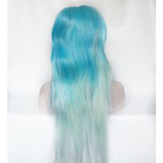 SPRING SALE Light Blue wig. Pastel Blue wig. Mint Green wig. Pastel... ($69) ❤ liked on Polyvore featuring hair, straight iron, flat iron, hair styling tools, straightening iron and styling iron