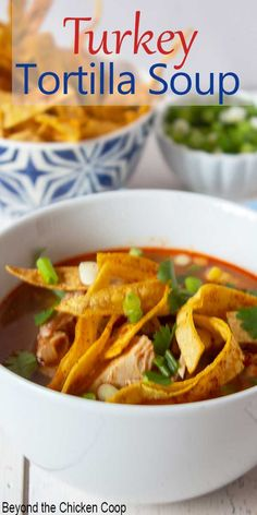 A flavorful soup using leftover turkey! This soup is packed full of spices and good for you ingredients. Make a big pot using your leftover Thanksgiving turkey and you've got a delicious lunch or dinner.