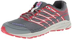 Merrell Womens Mix Master Move Glide 2 Trail Running ShoeGreyGeranium65 M US ** Click image to review more details.