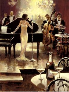 Jazz Night Out Kunstdruk by Brent Heighton