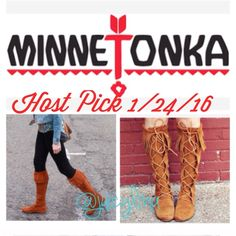 HP 1/24/16 BootsMinnetonkasize10  BootsEUCNo boxone of the laces need to be replacedstill laces uptied both pieces togetheractual color pic 3 Minnetonka Shoes Winter & Rain Boots