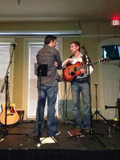 Ryan and neil on their 2012 Acoustical tour!! I missed this, but this was in Portland at Kell's :) I recognize it.