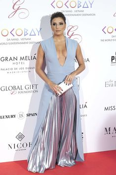 Actress Eva Longoria attends the Global Gift Gala 2017 at the Royal Teather on April 4, 2017 in Madrid, Spain.
