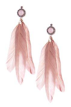Chloe & Theodora Poco Feather Earrings