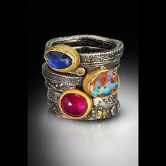 Beautiful photos of Tai Vautier Jewelry really capture the depth and richness of her work. Bold Jewelry, Metal Jewelry, Jewelry Art, Gemstone Jewelry, Silver Jewelry, Fashion Jewelry, Jewelry Design, Silver Ring, Ethnic Jewelry