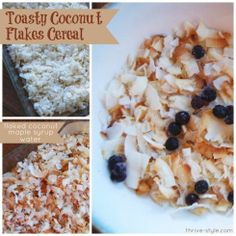 Toasty Coconut Flakes Cereal - This is amazing! It's low carb but still has a good cereal-like crunch! It's also great added to trail mix or eaten by the handful...