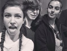 The Walking Dead: Katelyn Nacon, Chandler Riggs and Alanna Masterson