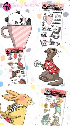 😍 🐇 Cute, funny, and super sassy new stamps (for those who love a laugh! From cute animals to people and girlfriends, Art Impressions has a ton of funny stamps and dies for your funny card making! Cute Animal Clipart, Spectrum Noir Markers, Art Impressions Stamps, Baby Drawing, Cute Animal Drawings, Funny Cards, Pattern Drawing, Kids Cards, Clear Stamps