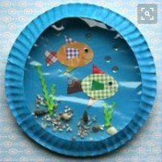 Paper plate aquarium crafts for kids crafts for kids, aquarium craft и ocea Kids Crafts, Craft Activities For Kids, Summer Crafts, Crafts To Do, Preschool Crafts, Arts And Crafts, Childcare Activities, Preschool Christmas, Ocean Activities