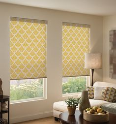 Vibrant roller shades give a space a unique and fresh look. Craft your living space with tried-and-true classics mixed with bold colors.