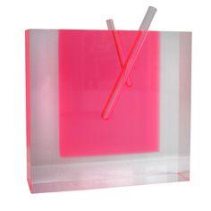 Acrylic Flower Vase #3 : Shiro Kuramata Acrylic, Glass      Japan     c1989