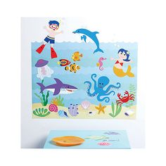 W13536 - Olive Kids Seaquarium, Wallies Wall Play Peel and Stick Decor, kategori Wallies Inreda.com (flyttbara stickers)