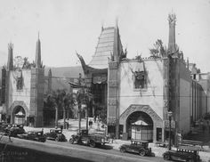 Grauman's Chinese Theatre, LA circa 1927. A one-of-a-kind theatre, still standing today on Hollywood Blvd.